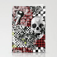 rock n roll Stationery Cards featuring 50s rock n roll by Mickaela Correia