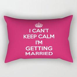 Keep Calm Married Quote Rectangular Pillow