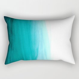 Ombre background in turquoise Rectangular Pillow