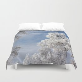 In the Frosty Air Duvet Cover