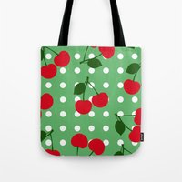 cherry Tote Bags featuring cherry by vitamin