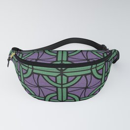 Stained Glass - Purple and Green Fanny Pack