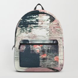 Sweet tooth [7]: a colorful abstract mixed media piece in pink, blues, and white Backpack