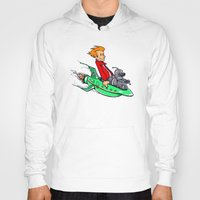 bender Hoodies featuring Bender and Fry by Punksthetic