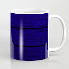 Blue Wood Board Coffee Mug
