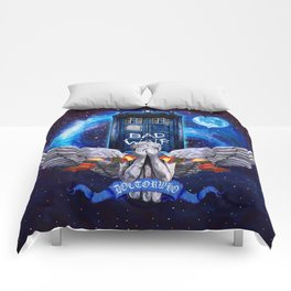The Angel with Tardis Comforters