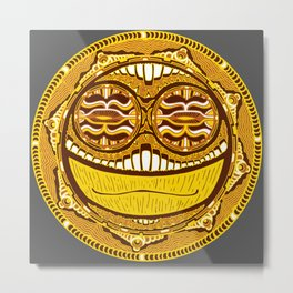Adrenaline Mask Metal Print