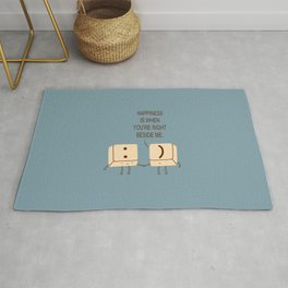 Happy Smile Keyboard Buttons Rug