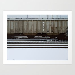 Boxcar in Winter Art Print