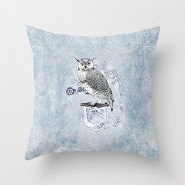 Owl Theory Throw Pillow