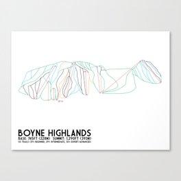 Boyne Highlands, MI - Minimalist Trail Art Canvas Print