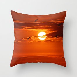 Red Sunset2 False Bay Throw Pillow