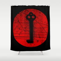 key Shower Curtains featuring Key by Superlust
