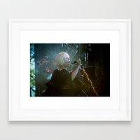 amy sia Framed Art Prints featuring sia live by lizbee
