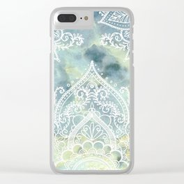 MANDALA ON MARBLE Clear iPhone Case