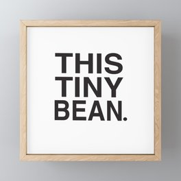 This Tiny Bean Logo Framed Mini Art Print