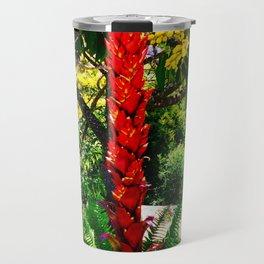 Alpinia purpurata – Red Ginger Flower, Nature in Bogota, Colombia Travel Mug