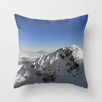 terminator Throw Pillows featuring Terminator Peak by Joe-LynnDesign