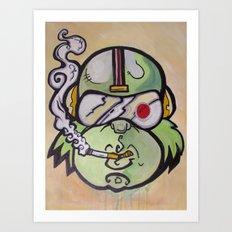 Commander Chimp Art Print