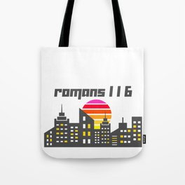 Romans 1:16 Tote Bag