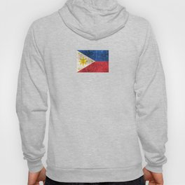 Vintage Aged and Scratched Filipino Flag Hoody