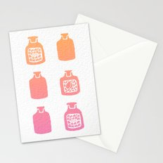 ROSE PERFUME BOTTLES - PEACH / PINK OMBRE Stationery Cards