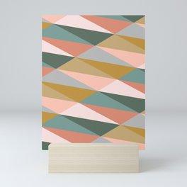 Earthy Diagonals Mini Art Print