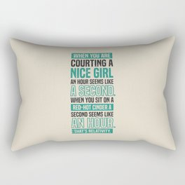 Lab No. 4 When You Are Courting Albert Einstein Famous Life Inspirational Quotes Rectangular Pillow