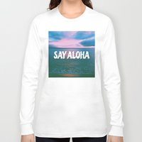 coconut wishes Long Sleeve T-shirts featuring COCONUT PALM  by Samantheeyo