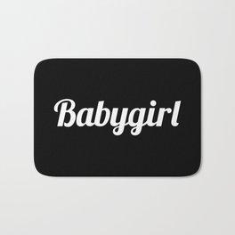 BABYGIRL Baby Girl (Black & White) Bath Mat