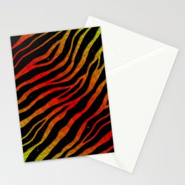 Ripped SpaceTime Stripes - Lime/Red Stationery Cards