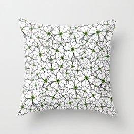 Line art - Clover Throw Pillow
