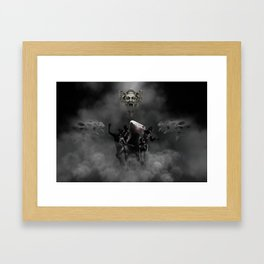 Laughing at my disaster Framed Art Print