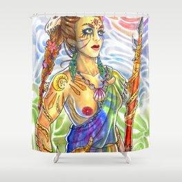 Cavewoman Shower Curtain