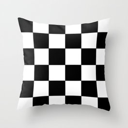 Checkerboard (LF) - (Collection Black & White) Throw Pillow