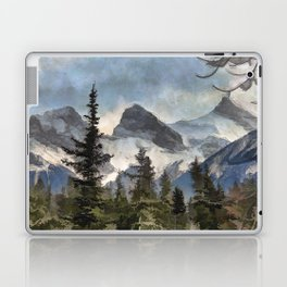 The Three Sisters - Canadian Rocky Mountains Laptop & iPad Skin