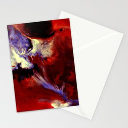 Abstract, Red, White, Violet, Black (CA17036C) Stationery Cards