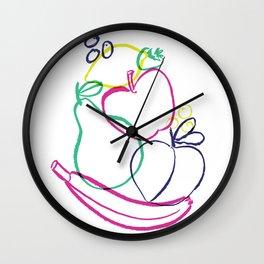 Colorful Fruit Jumble Wall Clock