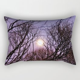 Full moon and purple sky Rectangular Pillow