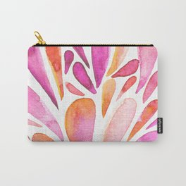 Watercolor artistic drops - pink and orange Carry-All Pouch