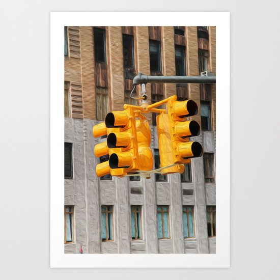 Traffic lights Art Print