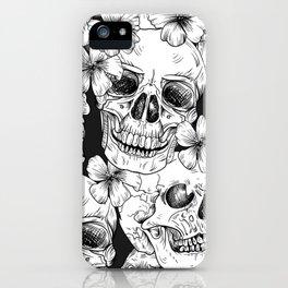 Rocker Skull Flower Stylish Musician Music Lover Gift iPhone Case