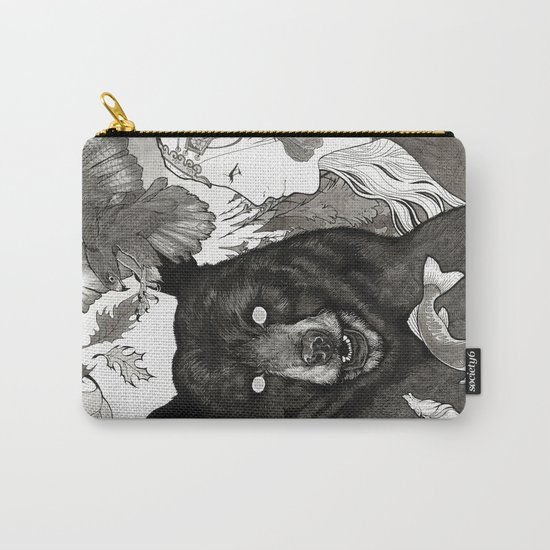 Bear, wolf, pike and falcon Carry-All Pouch