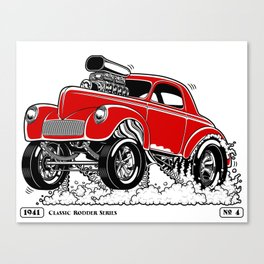 1941 WILLYS Classic Rodder - RED Canvas Print