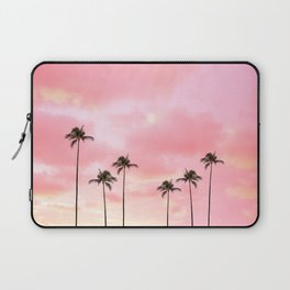 Palm Trees Photography | Hot Pink Sunset Laptop Sleeve