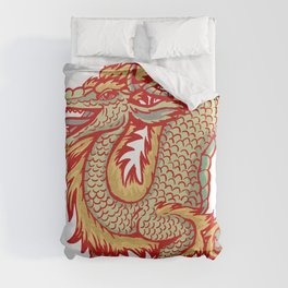 Old China Dragon Duvet Cover