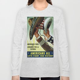 Americans All - Let's Fight for Victory Long Sleeve T-shirt
