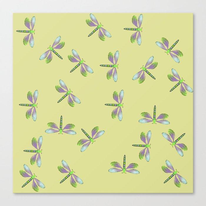 Dragonfly Frenzy Canvas Print