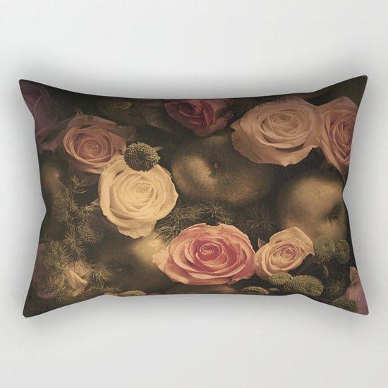 Green apples and Roses Rectangular Pillow
