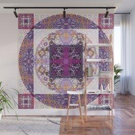Sacred Geometry Magenta Mandala Portal Wall Mural